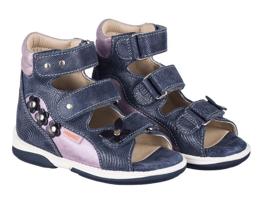 02847005e060 Memo Agnes navy lilla ortopædisk sandal med god støtte