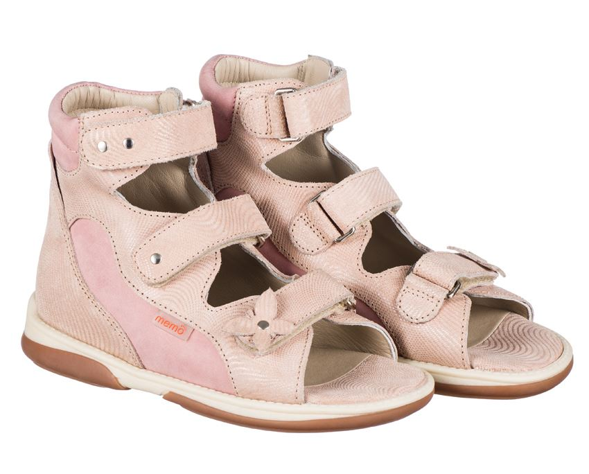 74f75740d02a Memo Agnes lyserøde ortopædiske sandaler med god støtte