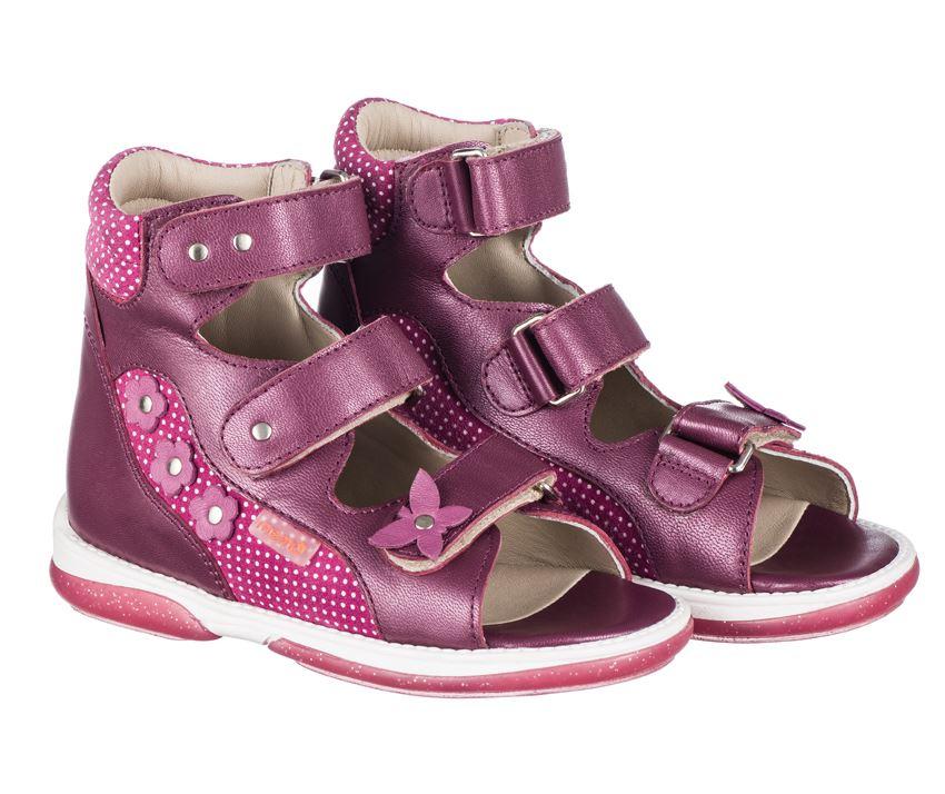 c53df51778e6 Memo Agnes dark pink ortopædiske sandaler med god støtte