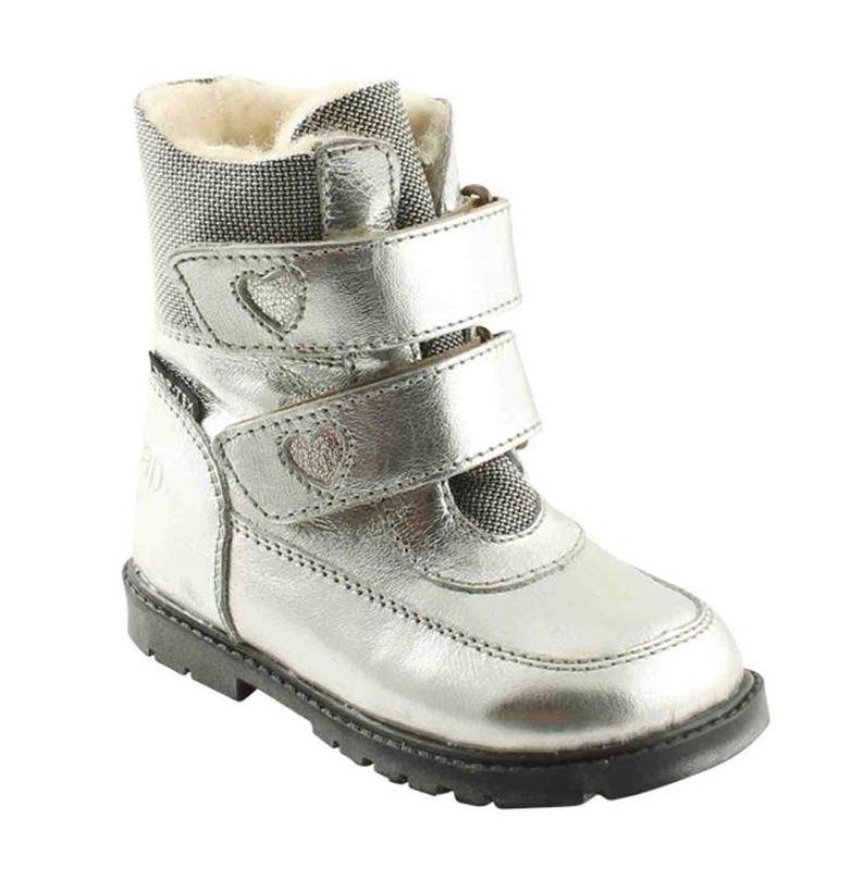 5bc6c61e568f Arauto Rap sølv skind støvler med velcro og god støtte