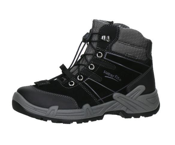 b42a2440 Sorte Superfit støvler med støtte til de store drenge.